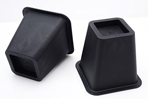 Home-it 5 to 6-inch SUPER QUALITY Black bed risers, helps you storage under the bed 4-pack (Black) by Home-it (Image #2)