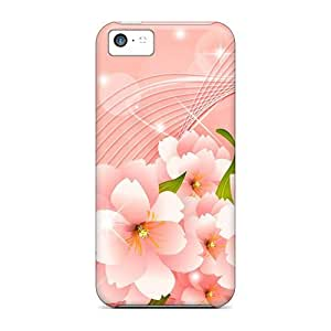 meilz aiaiHigh Quality CaroleSignorile Pink Floral Waves Skin Cases Covers Specially Designed For Iphone - 5cmeilz aiai
