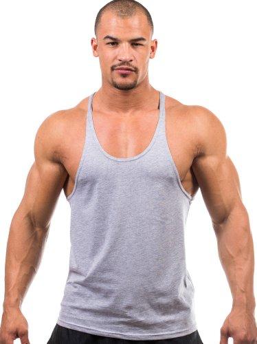 Iwearit Y-Back Muscle Tanktop M-Grey Made in USA