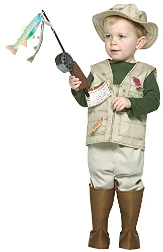 Future Fisherman Child Costume (UHC Future Fisherman Outfit Comical Theme Fancy Dress Toddler Halloween Costume, Toddler (3-4T))