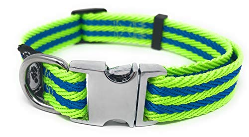 Pet Collar with Metal Buckle and D Ring | Durable Dog Collar with Reinforced Stitching and Nylon Webbing Adjustable Dog…