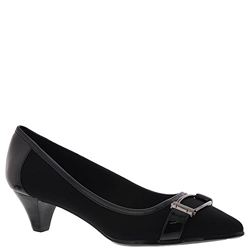 Anne Klein Women's Marylyn Ponyhair Pump, Black Fabric, Size 7.0