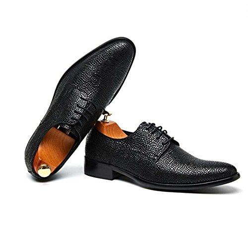 Cuero Negocios Trabajo Gamuza Negro Respirables Para Hombres Boda Zapatos De wF7EqxaUH