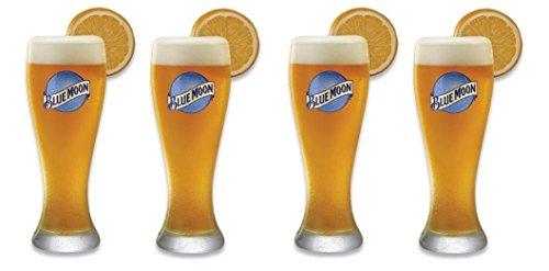 Set of 4 Blue Moon Pilsner Beer Glass (Blue Moon)