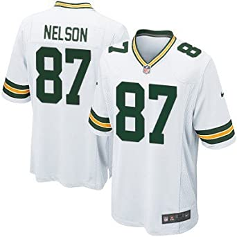 the latest f1f7e 26d25 Amazon.com: Jordy Nelson Green Bay Packers White Elite ...