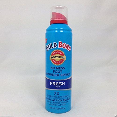 Gold Bond No Mess Foot Powder Spray, Fresh, 7 Ounce ( Pack of 8 ()