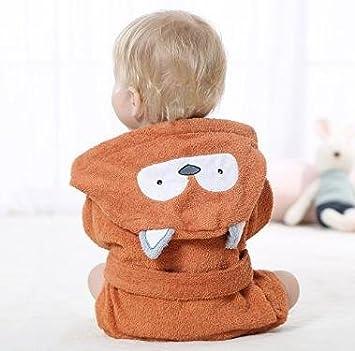 Mainaisi Baby Hooded Bathrobe Towels Cotton Cartoon Animal Wrap for Infant 0-3years Small Rabbit
