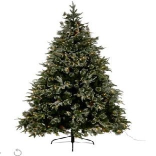 7ft 6in New England Pre Lit Christmas Tree Amazon Co Uk Kitchen Home