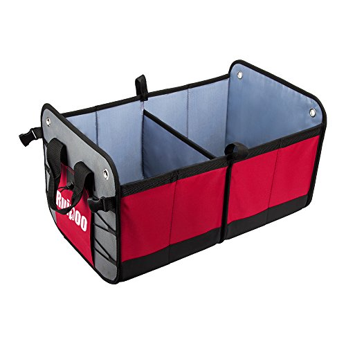 Car Trunk Organizer Collapsible Grocery Cargo Storage Container for SUV Auto Car Trunk Vehicle Jeep, Non Slip Bottom Prevent being Sliding