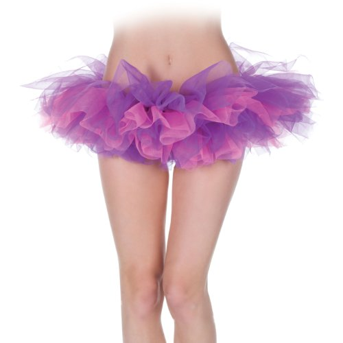 Cheshire Cat Dance Costumes - Morris Tutu Costume, Pink/Purple, One