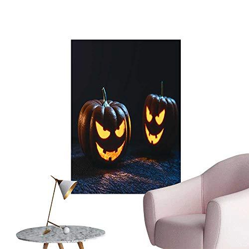 SeptSonne Wall Stickers for Living Room Halloween Pumpkin Lantern Vinyl Wall Stickers Print,28