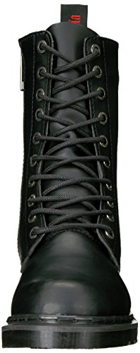 Demonia Mens Def200 / B / Boot Pu Pelle Nera Vegan