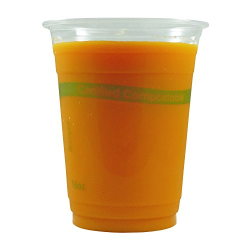 CiboWares 16 oz Disposable Clear Compostable Cups, Made from Corn Based Plastic, Case of 1000 from CiboWares