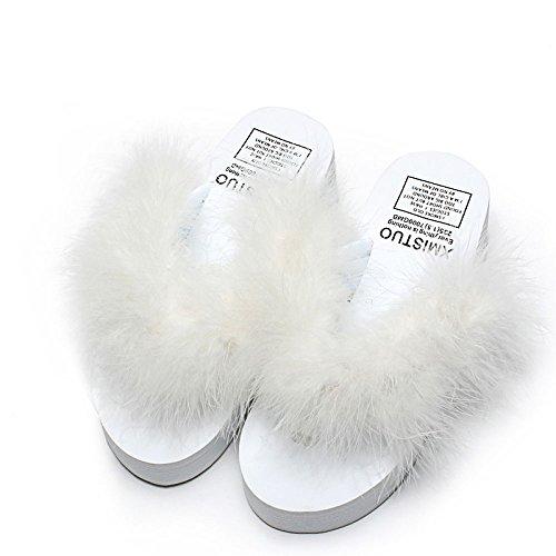 Avec Talons 5cm Dérapant Pantoufles Rome Anti épais Mode Tongs F Mignons à Hauts Chaussures Femmes 5 D'été de Extérieurs CHENGXIAOXUAN pour Mocassins Simples Bas Sandales Haute aPqS11