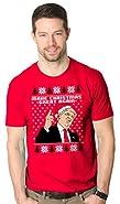 Crazy Dog Tshirts Mens Make Christmas Great Again Santa Hat Trump Funny Ugly Xmas T Shirt