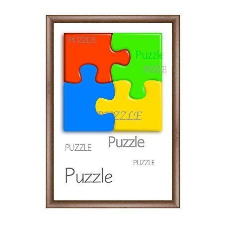 """Cadre à puzzle / photo """"Valencia"""" 50X70cm Chêne rustique pour 500-1000 Pièces product image"""
