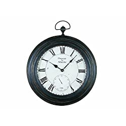 Creative Co-op DE2939 Turn of The Century Style Pocket Watch Wall Clock