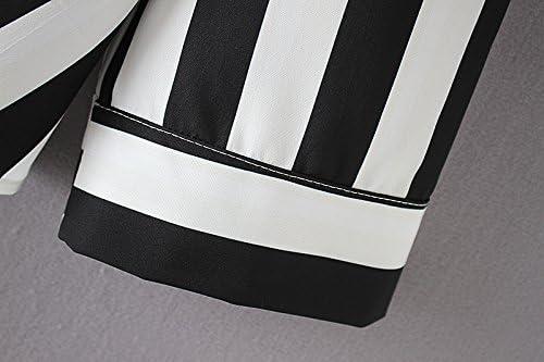 Popoye Kimono Blusa a Rayas Blancas y Negras para Mujeres Camisa ...