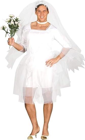 JGA Braut Kostüm Drag Queen Kleid Männer Brautkleid Herren Outfit XL 54//56