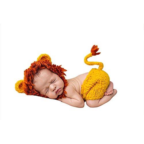 Tenue Photo Crochet Fait Props Main Tricoté La À Hzjundasi Bébé 1 Photographie Jaune Bambin Costume 4vBqwf7g