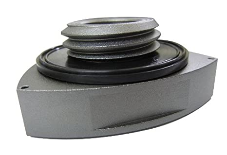 Desconocido Mazda Rotary Powered by 13B-REW Twin Turbo Oil Filler Cap in Silver Gunmetal Billet Aluminum for Mazda RX7 RX8 RX3 R1 R2 R3 12A 13A 13B JDM: ...