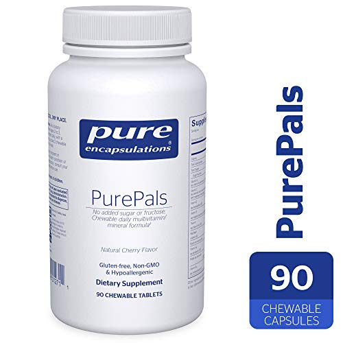 Pure Encapsulations - PurePals - Hypoallergenic Multivitamin/Mineral Formula for Cognitive Function, Mood and Immune Support* - 90 Chewable Capsules