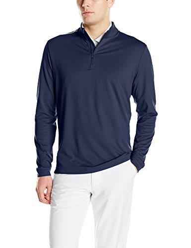 adidas Golf Men's Adi 3-Stripes Classic 1/4 Zip Jacket, Navy, X-Large