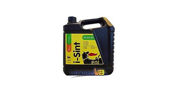 Aceite lubricante coche Eni - Agip i-Sint MS 5w30 5Ltrs: Amazon.es: Coche y moto