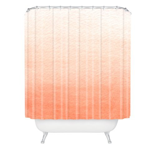 Generic Social Proper Peach Ombre Shower Curtain 66 72inch