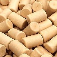 Tapones sintéticos blancoamarillentos para vino, 100 unidades, listos