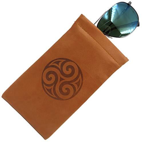 Soft Sunglasses case | Large eyeglass Case,Squeeze Top glasses case(CT8 Triskelion)