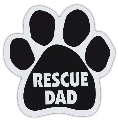 Dog Paw Shaped Magnets: RESCUE DAD | Dogs, Gifts, Cars,