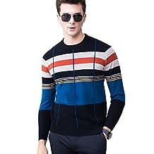 MEbox Men's Trim Fit Stretch Merino Wool Crewneck Dress Sweater