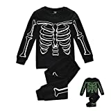 Hisharry Halloween Pajamas for Boys Girls-Unisex Kids Sleepwear Toddler Little 2 Piece Pjs Cotton Clothes for 4 Years