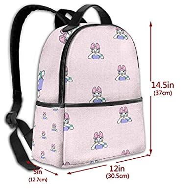Funny Donald Duck Black Backpack Zipper School Bag Travel Daypack Unisex Adult Teens Gift: Computers & Accessories