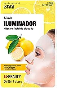 Kiss NY Professional Máscara Facial de Algodão- Limão, Kiss New York Professional
