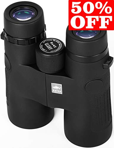 Ultra HD Binocular, Wide Angle, 8X 42, 100% Waterproof and fogproof