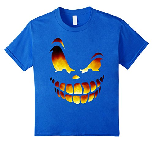 Kids Fire Scary Jack o Lantern Halloween Shirt Costume Ideas 2017 12 Royal Blue