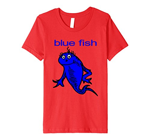 Kids Blue Fish Funny Angler Fishing Fisherman T-Shirt 10 Red - Red Fish Blue Fish Costume Ideas