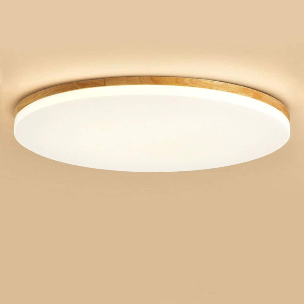 VAST Techo Ronda luz de un Cabezal de Madera Luces de Techo 15W 26cm LED Cubierta Ultra Fina de la lámpara for el Dormitorio Pasillo Habitación Comedor 316