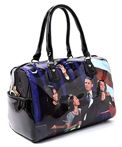 multi Dome in Satchel Glossy Cover Rc Obama Set 2 Handbag Wallet 1 Michelle amp; Collage Black Magazine xgIgYZ