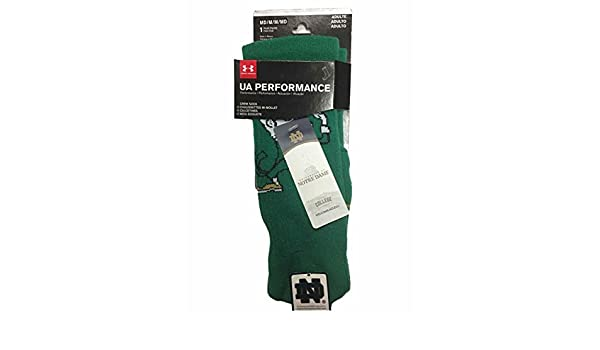Amazon.com : Under Armour Notre Dame Fighting Irish Adult NCAA Crew Logo Socks - Green, : Sports & Outdoors