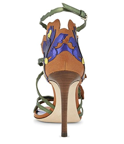 MNII Womens High Heel Strap Buckle Flowers Fish Mouth Tall Tube Blue Gold Pink Ladies Stiletto Party Sandals Shoes Size- Fashion summer Pink rEZXpyq