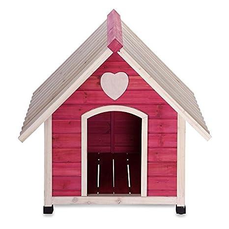 Caseta Tiffany de Madera, 54 x 53 x 58 cm (L/B/H), Perros Casa de Madera Maciza auténtica, machimbre: ambico: Amazon.es: Productos para mascotas