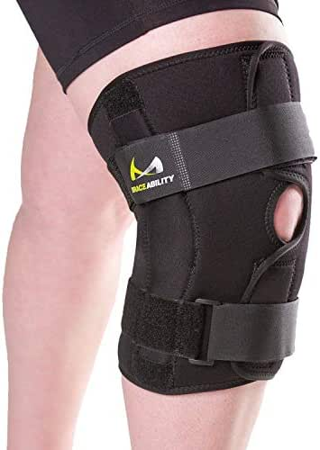 BraceAbility 6XL Plus Size Knee Brace   Bariatric Hinged Knee Wrap for Big & Wide Thighs to Support Meniscus Tears, Arthritis Joint Pain, Ligament Injuries & Sprains (6XL)