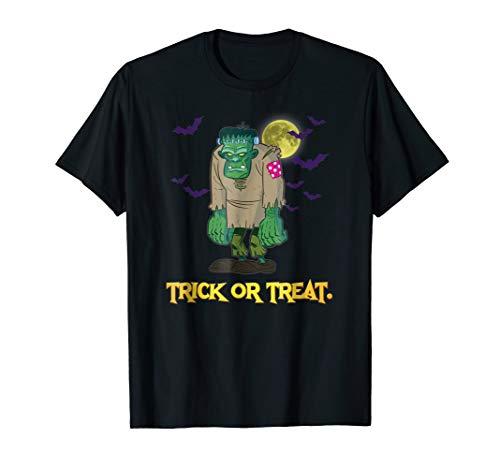Trick Or Treat Frankenstein Halloween T-shirt Bored Zombie