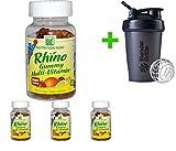 Nutrition Now, Rhino, Gummy Multi-Vitamin, 70 Gummy Bears(4 Packs)+Sundesa, Blender Bottle, Classic with Loop, 20 oz