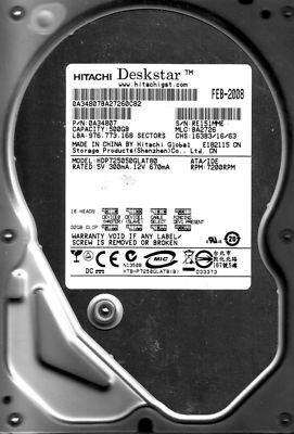 (Hitachi Deskstar P7K500 500GB UDMA/133 7200RPM 8MB IDE Hard Drive)