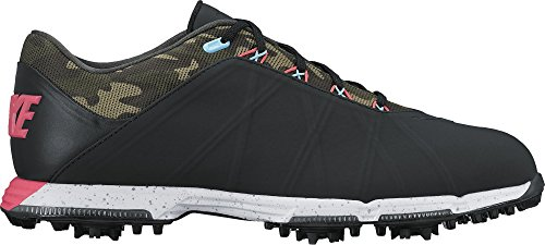 - NIKE Men's Lunar Fire Golf Shoes (9 M US, Black/Racer Pink-Cargo Khaki-Vivid Sky)