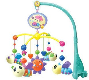 Farlin Little Bee flying around the Sun Musical Moblie Plastic Toy; 12 soft Musical Mobile &volume control by Farlin